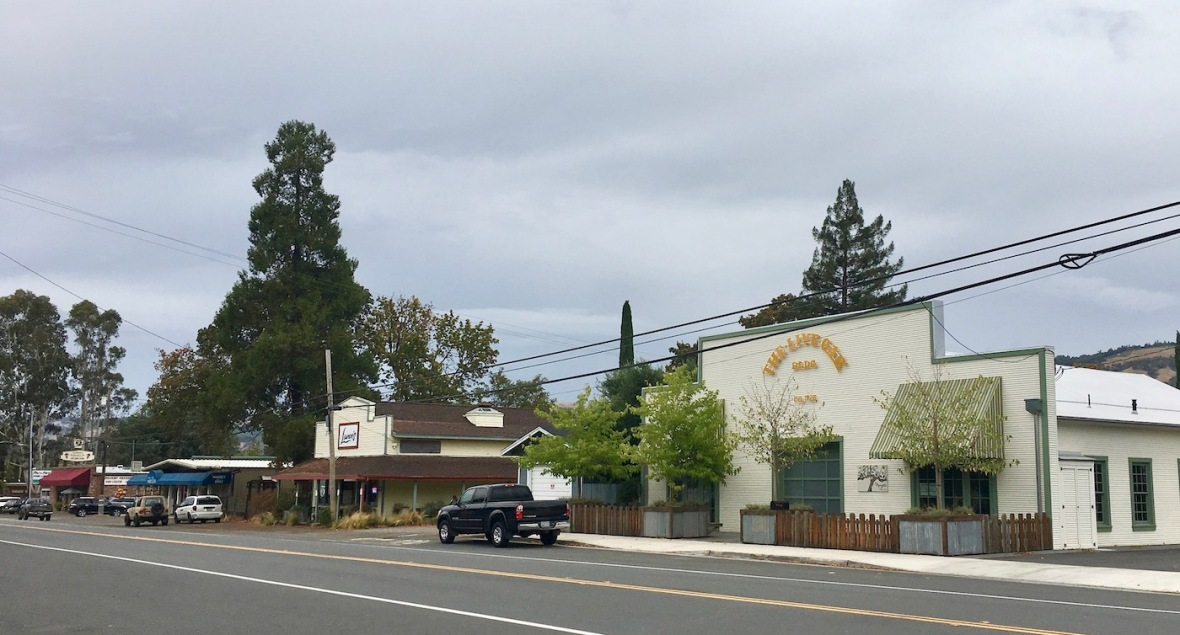 Town of Boonville in Anderson Valley, California