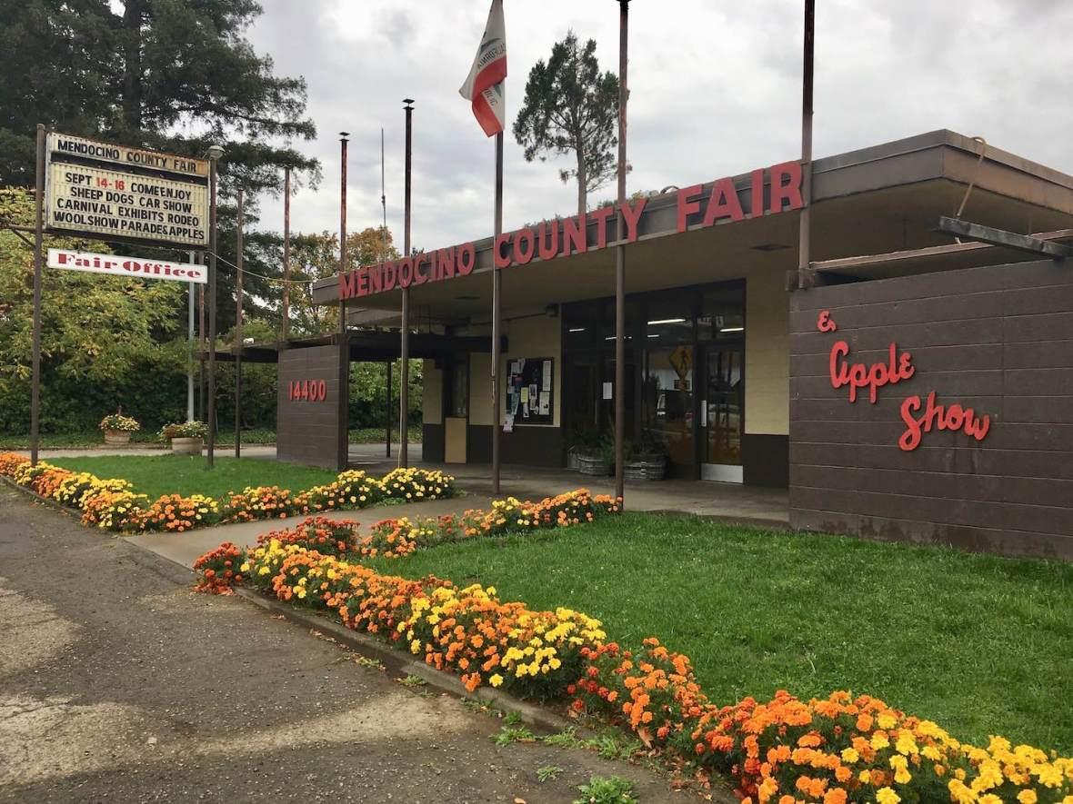 Mendocino County fairgrounds in Boonville, California