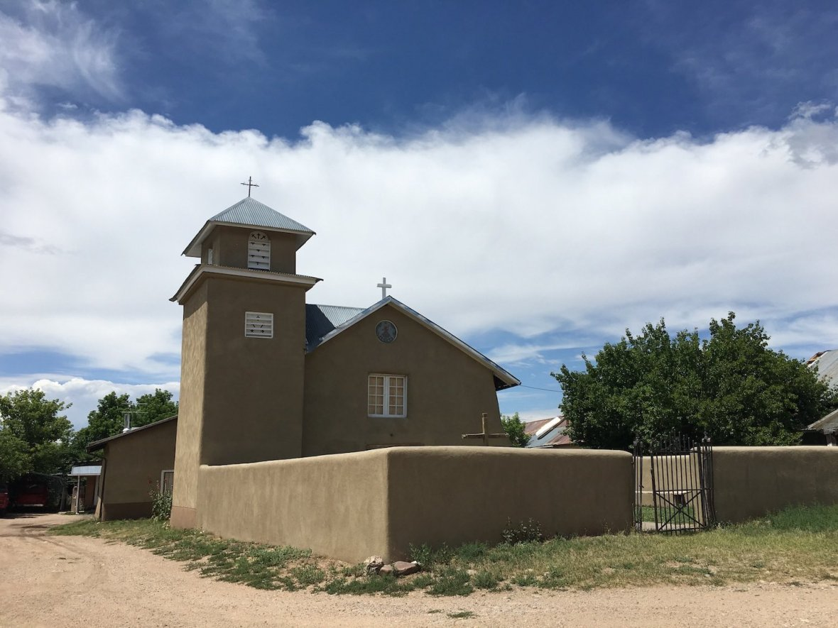 Just off the high road to Taos - Neustra Señora del Rosario Church in Truchas, New Mexico