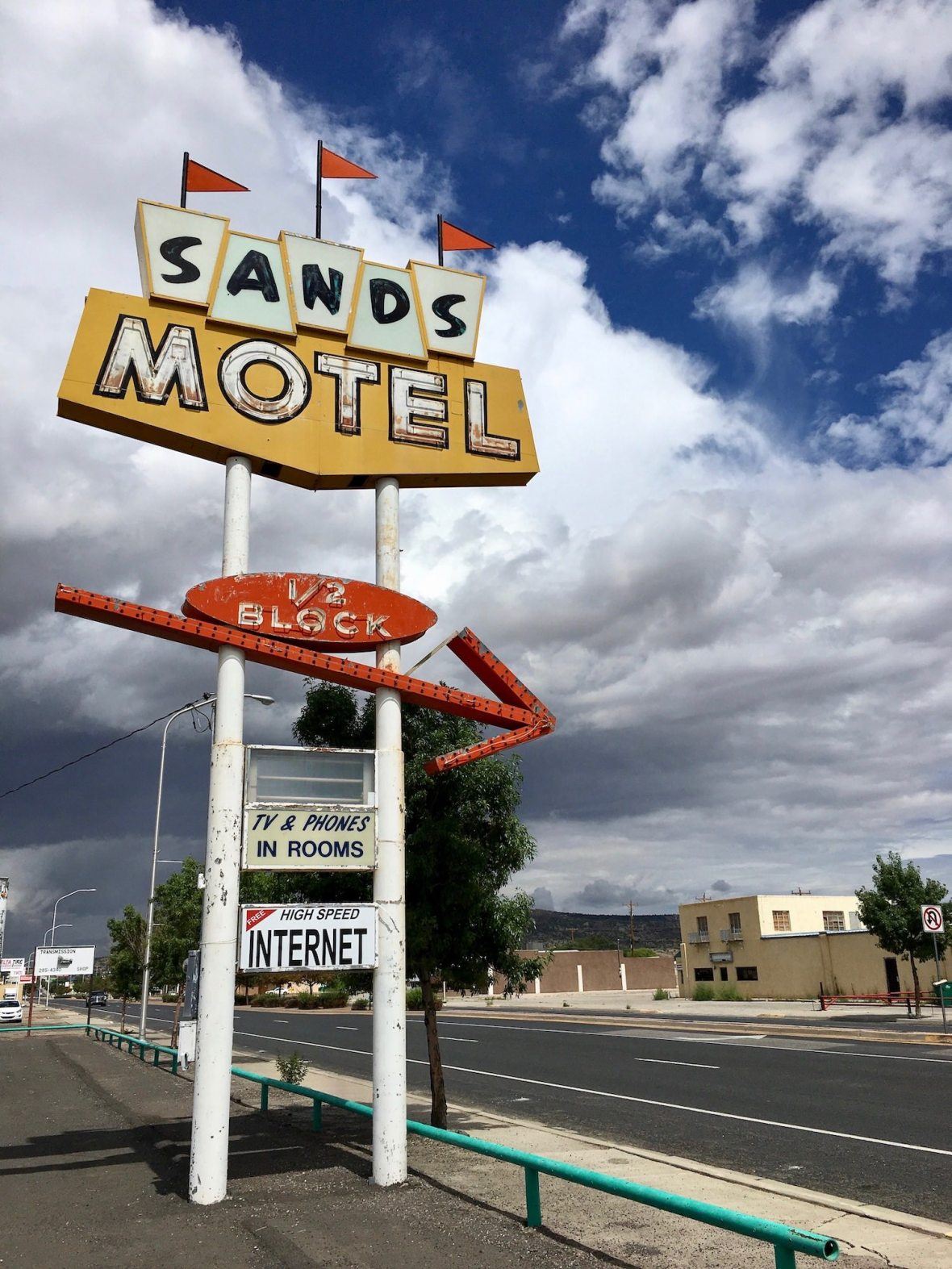 Sands Motel just off Route 66 in Grants New Mexico