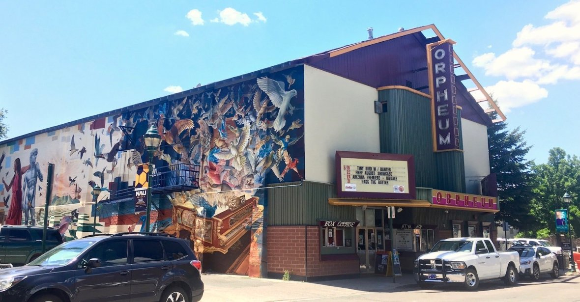 Orpheum Theatre Mural in Flagstaff, Arizona