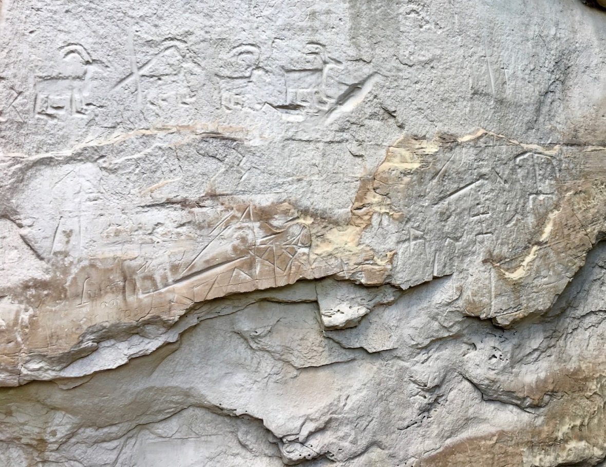 Petroglyphs in El Morro National Monument