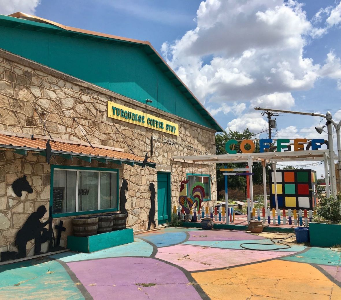 Turquoise Coffee Stop in Chillicothe, Texas