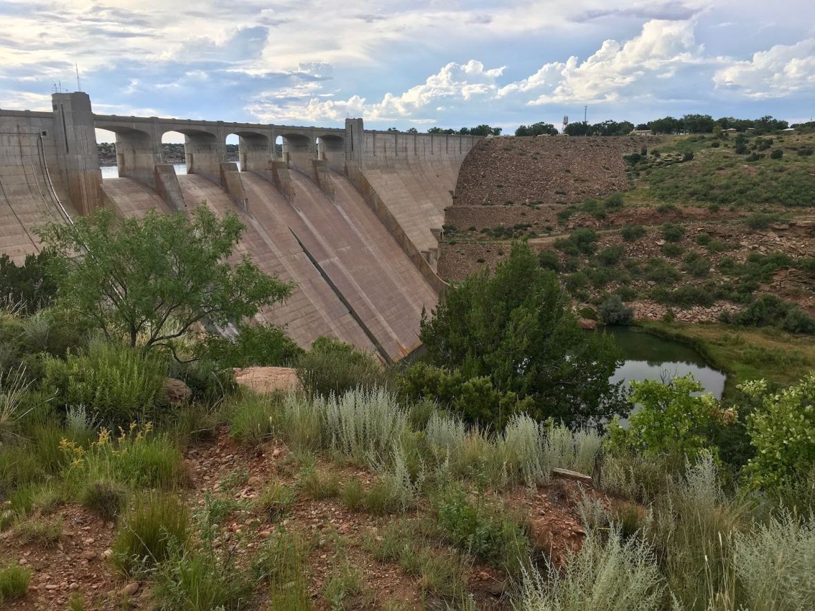 Conchas Dam and Canadian River, New Mexico