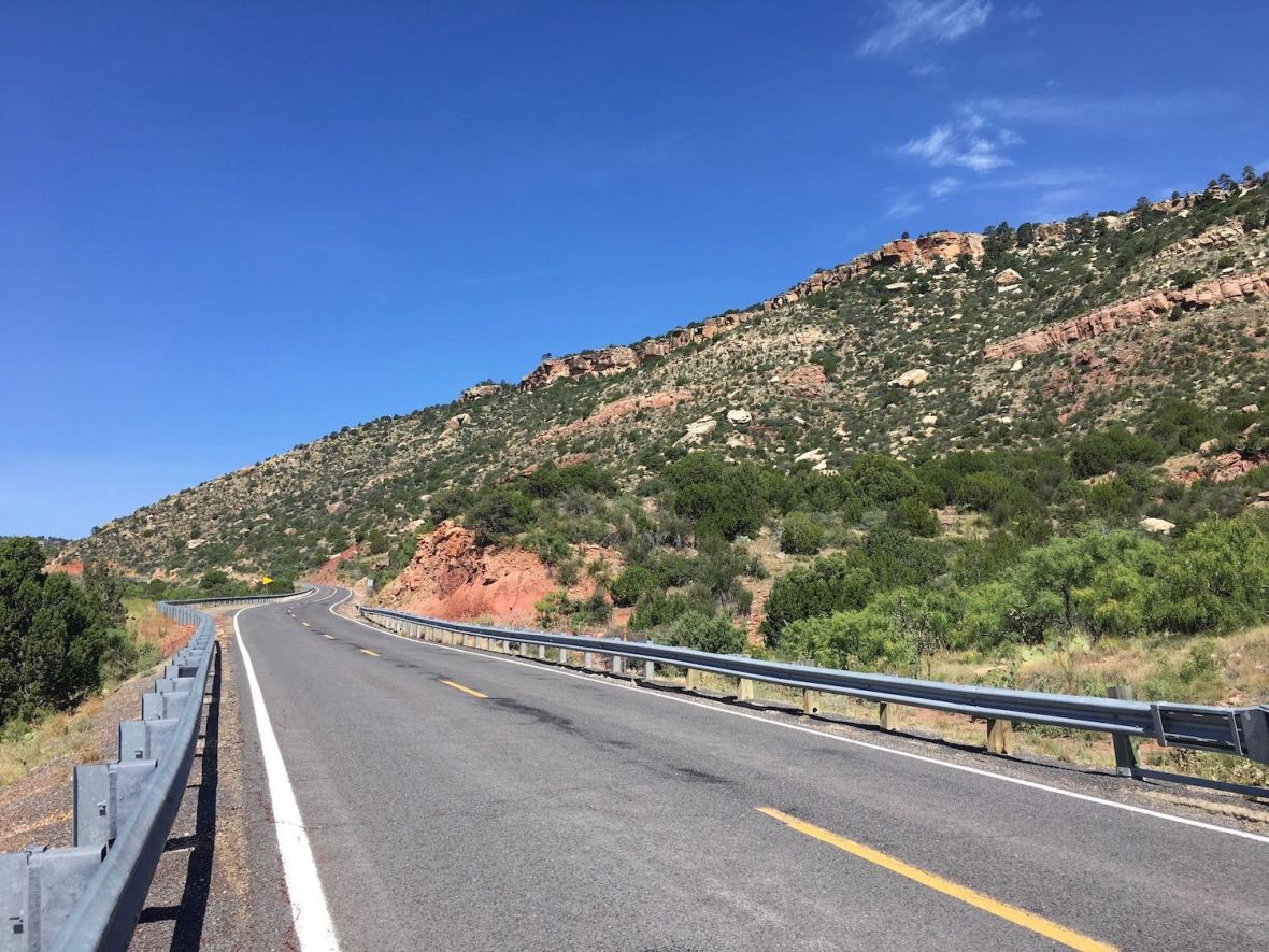 Climbing Corazon Hill on NM-104