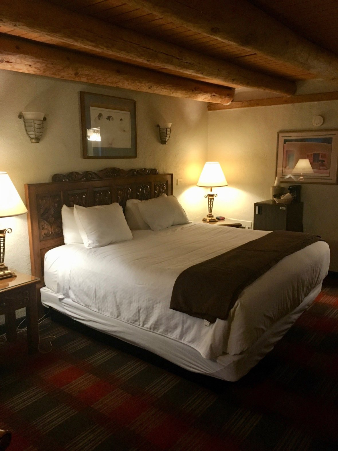 My dog-friendly room at the Historic Sagebrush Inn in Taos, New Mexico