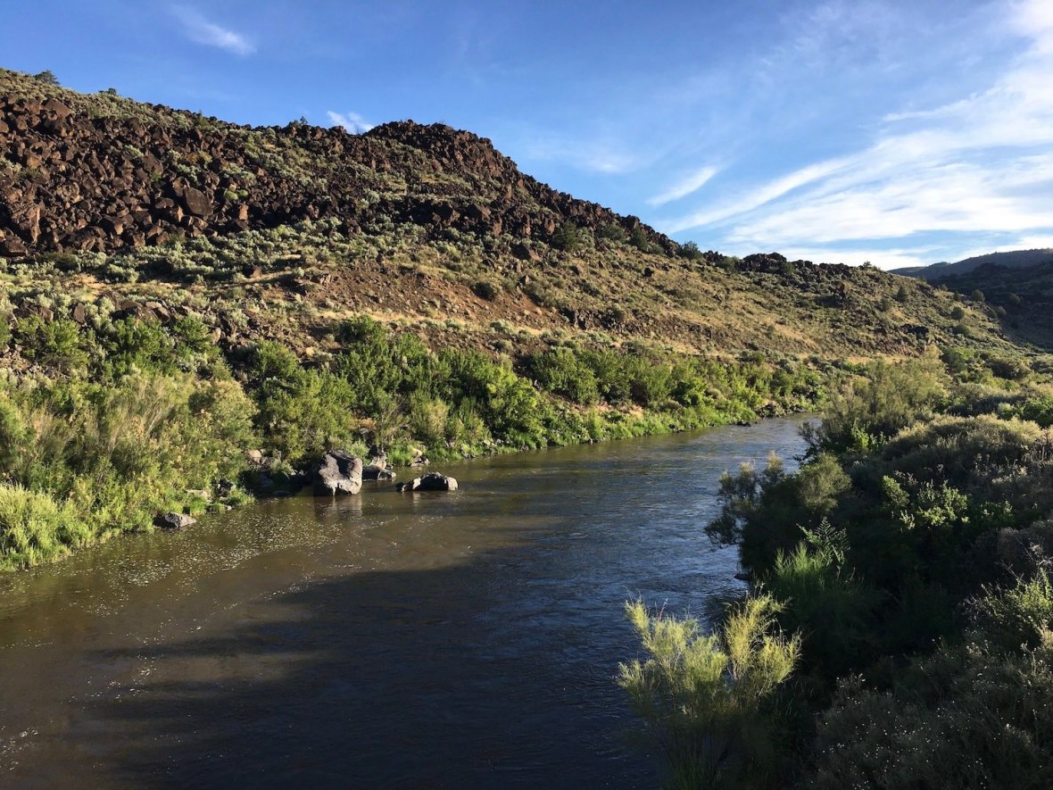 View of the Rio Grande from Taos Junction Bridge in Orilla Verde Recreation Area