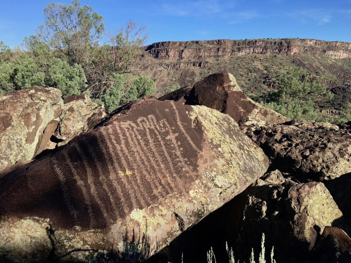 Large Petroglyph on the Picuris Trail in Orilla Verde Recreation Area