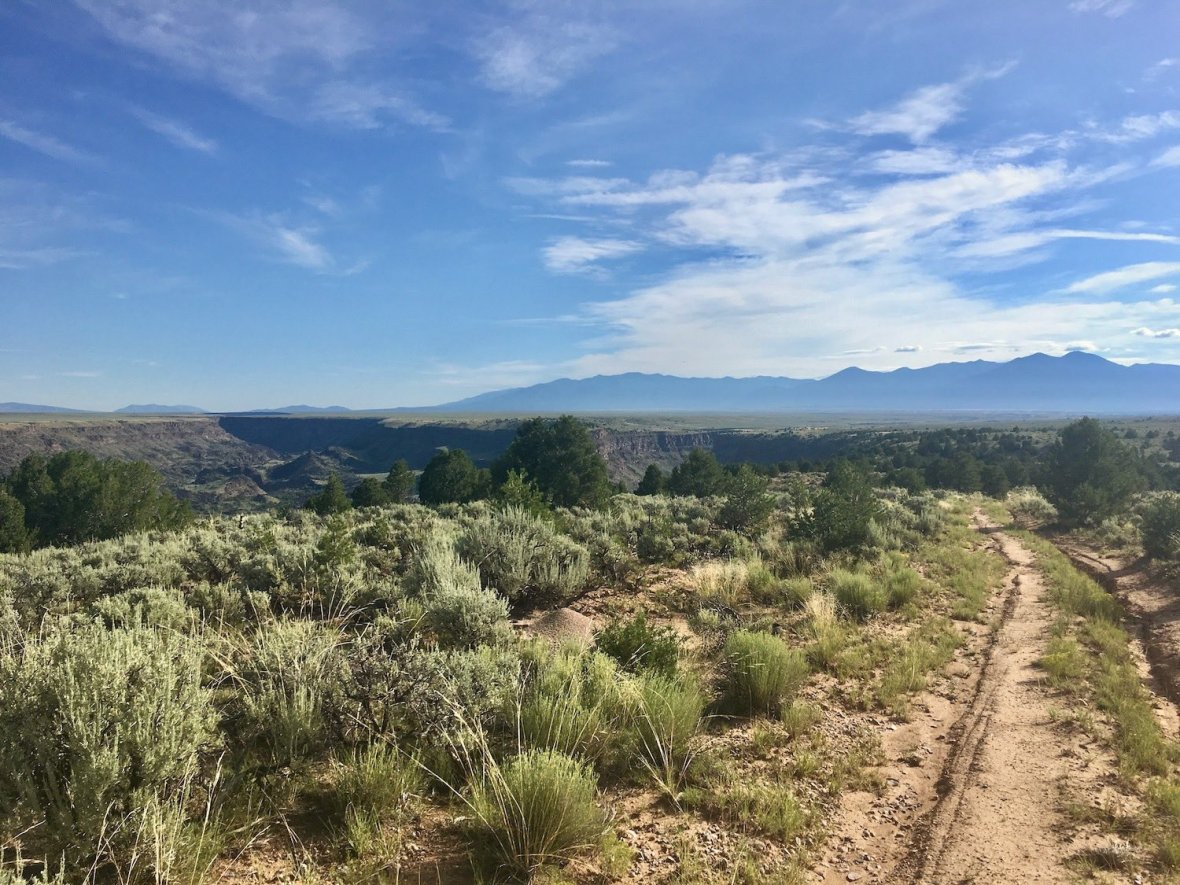 Along the Klauer Trail in Rio Grande del Norte National Monument
