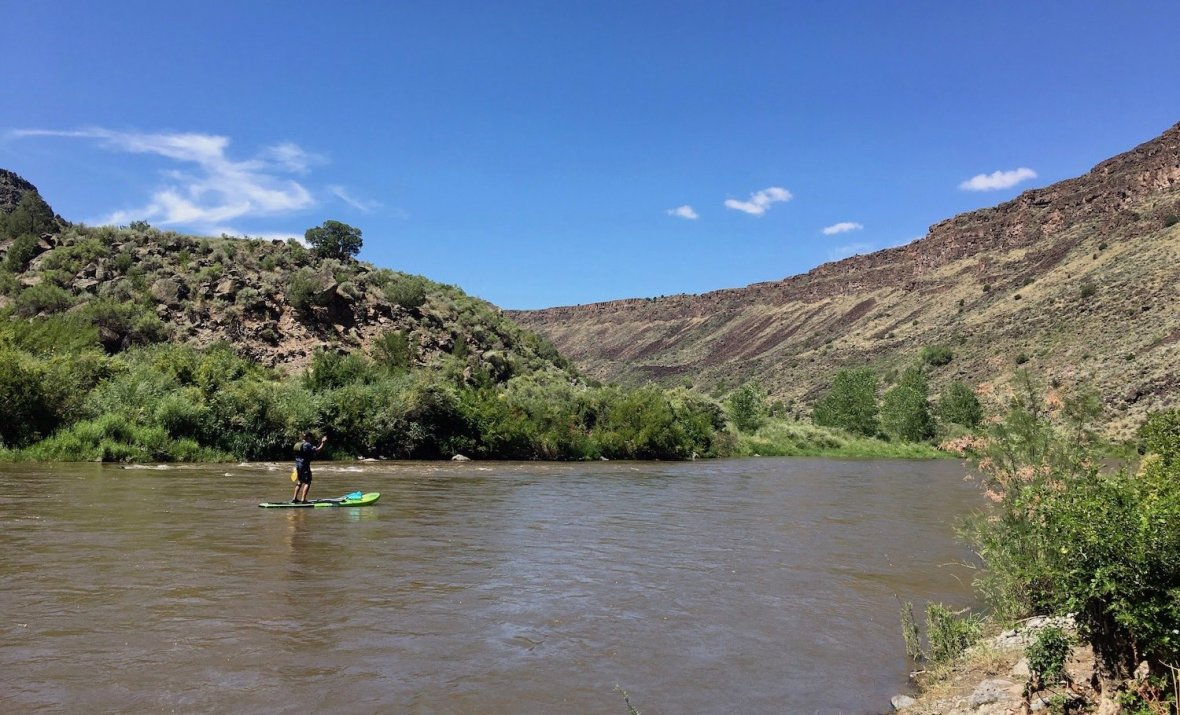 SUP on the Rio Grande in Orilla Verde Recreation Area
