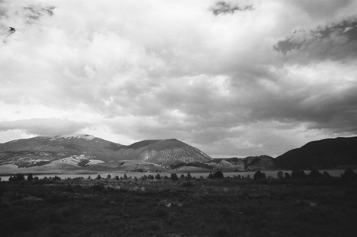 Rain rolling in over Eagle Nest Lake | 35mm photograph shot with Nikon F2 | Kodak Tri-X 400