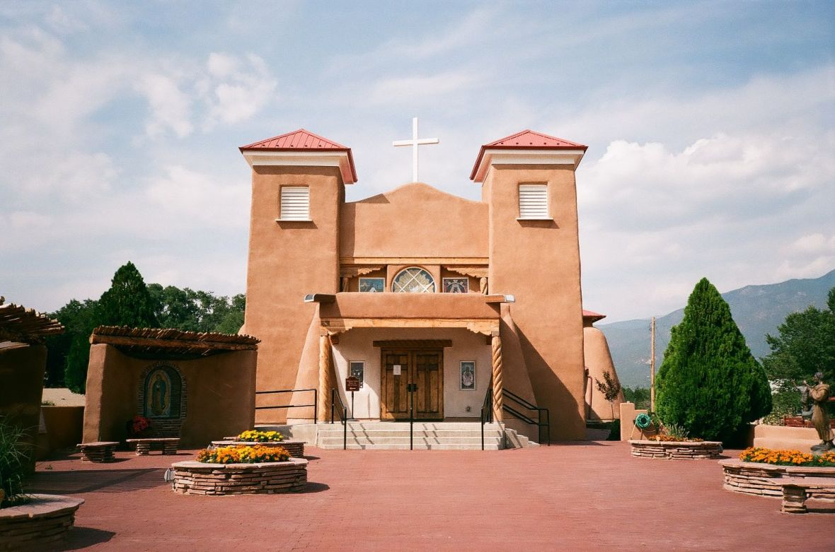 St. Anthony Catholic Church in Questa | 35mm photograph shot on Nikon L35af | Kodak Gold 200