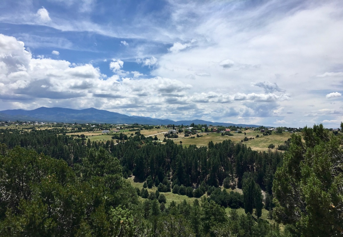 Overlooking the town of Truchas in the Sangre de Christo Mountains on the high road between Taos and Santa Fe