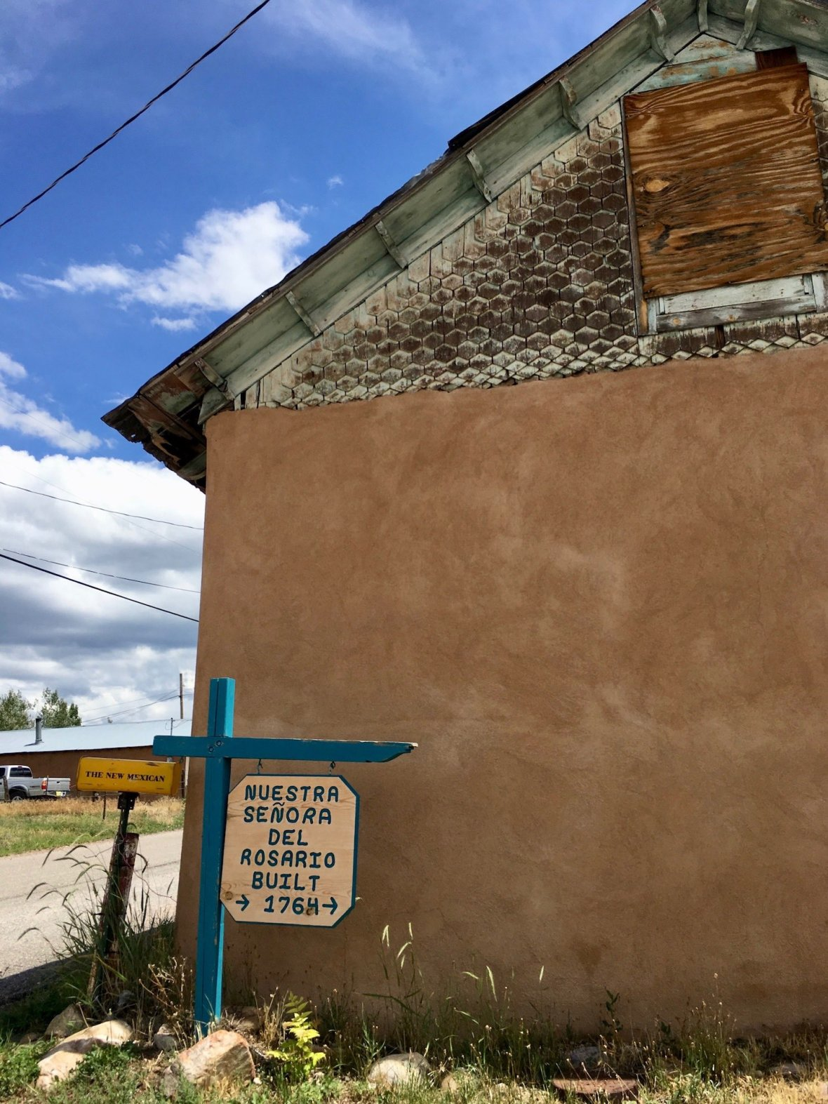 In the town of Truchas along the high road between Taos and Santa Fe