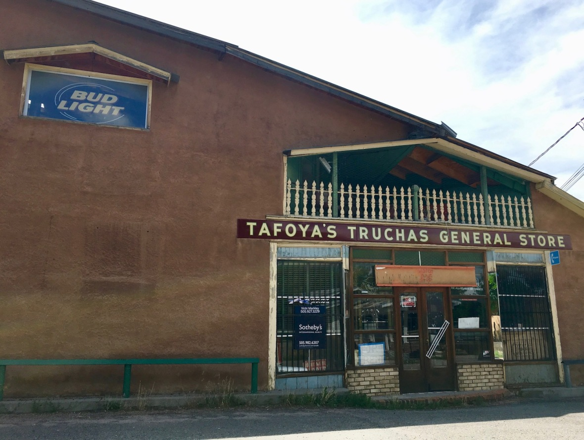 Tafoya's Truchas General Store (closed) along the high road between Taos and Santa Fe