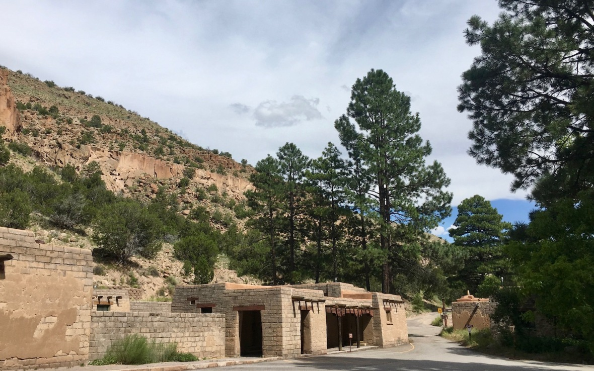 CCC era administrative buildings and visitor center in Bandelier National Monument
