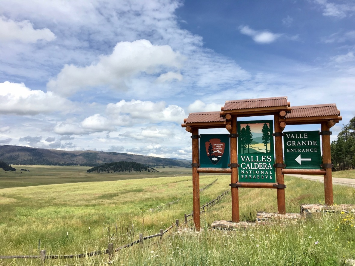 Valle Caldera National Preserve Entrance, northern New Mexico