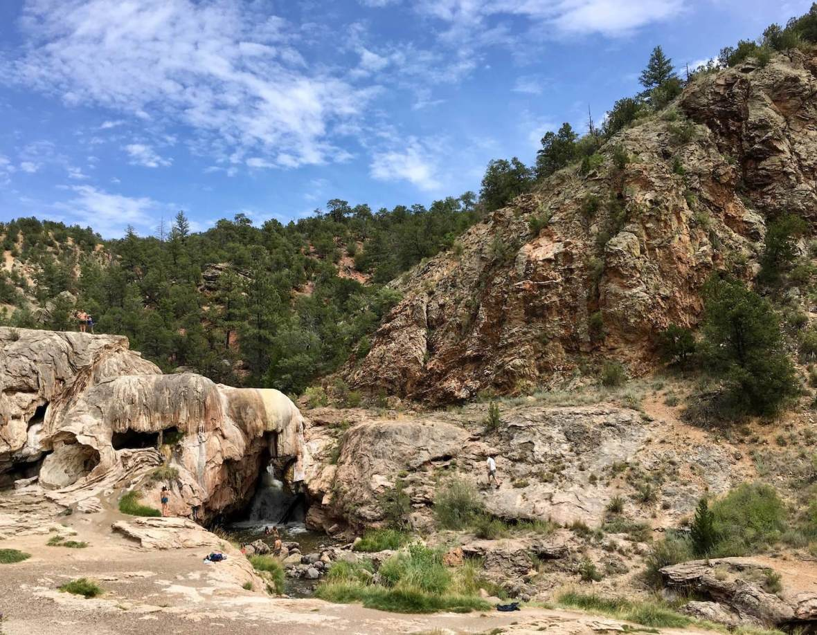 Soda Dam geological formation in Santa Fe National Forest near Jemez Springs