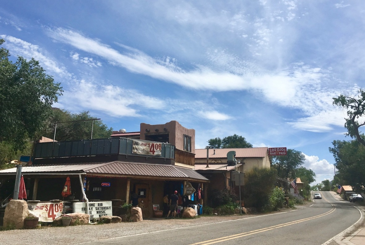 Hwy 4 through Jemez Springs, New Mexico
