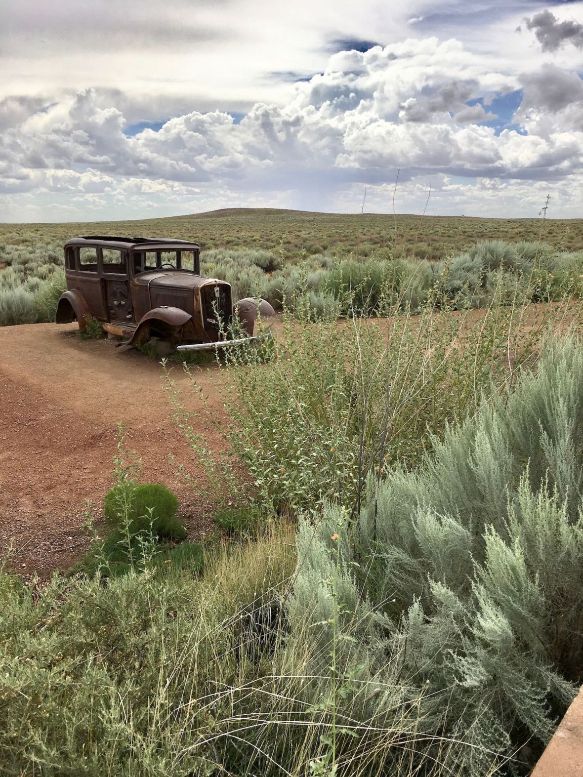 Old Route 66 through Petrified Forest National Park