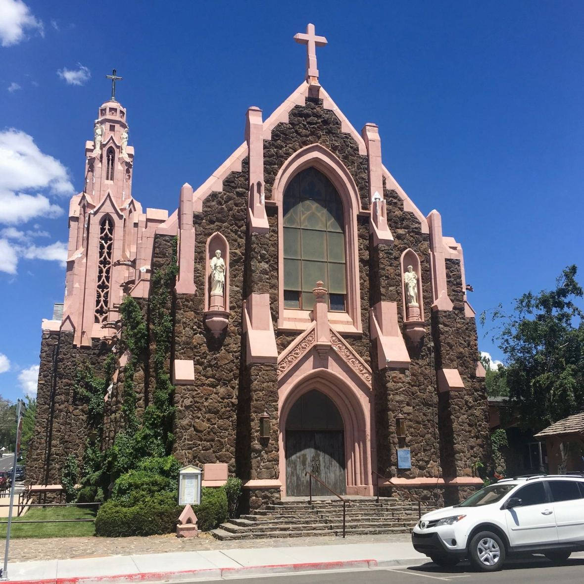 Interesting Church in downtown Flagstaff, Arizona