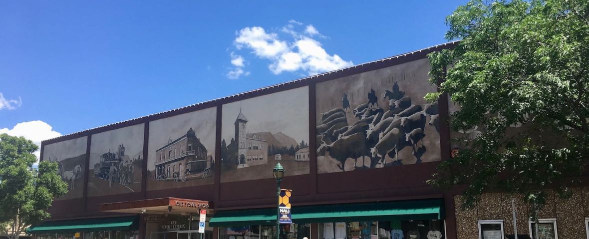 Downtown Shops Mural in Flagstaff, Arizona