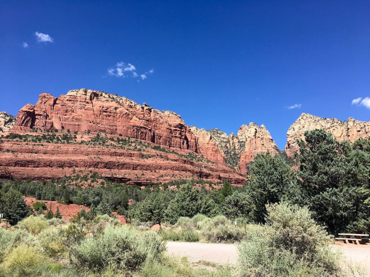 Jim Thompson trailhead in Coconino National Forest in Sedona, Arizona