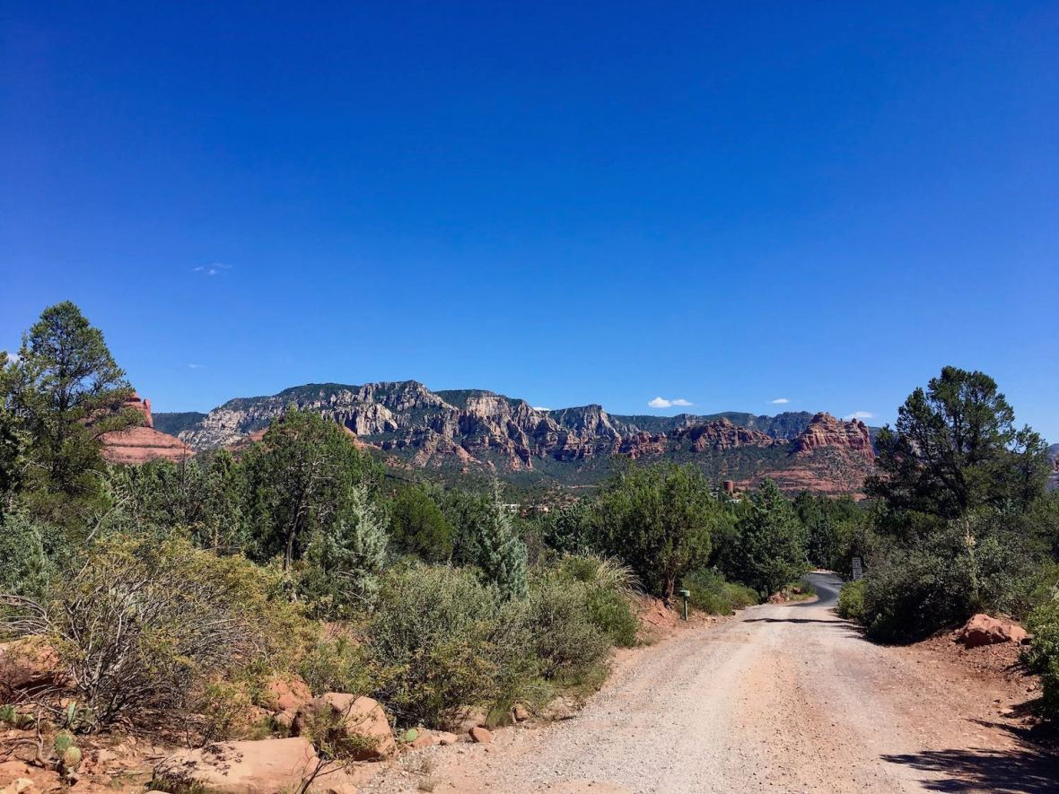Near Jim Thompson trailhead in Coconino National Forest in Sedona, Arizona